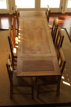 Table rallonges en bois grandes tables tables for Table en bois a rallonge