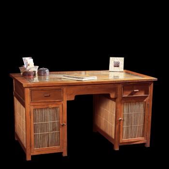 bureau teck bambou bureaux tables matahati cr ateur de mobilier durable. Black Bedroom Furniture Sets. Home Design Ideas