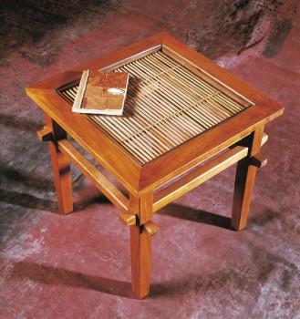 bout de canap teck bambou petites tables et chevets tables matahati cr ateur de. Black Bedroom Furniture Sets. Home Design Ideas
