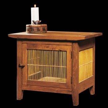 Meuble de chevet teck bambou petites tables et chevets - Table de chevet bambou ...