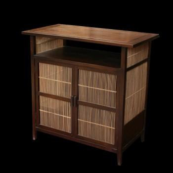 Meuble multim dia teck et bambou meubles multim dia - Meuble rangement multimedia ...