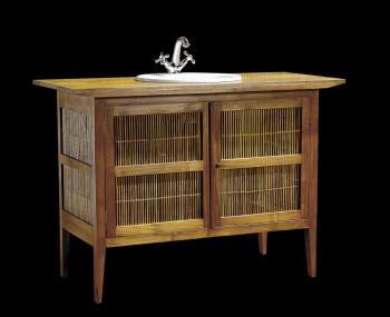 Meuble salle de bain teck bambou 120 meubles support de vasque meub - Meuble bambou pas cher ...