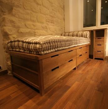 lit tiroirs lits lits matahati cr ateur de mobilier durable. Black Bedroom Furniture Sets. Home Design Ideas