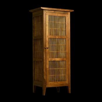 armoire teck et bambou troite armoires armoires et rangements divers matahati cr ateur. Black Bedroom Furniture Sets. Home Design Ideas