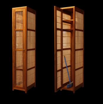 armoire teck et bambou sur mesure armoires armoires et. Black Bedroom Furniture Sets. Home Design Ideas
