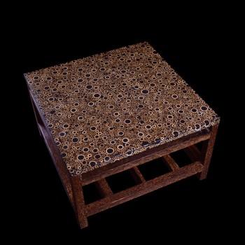 table basse carr e palmes tables basses tables. Black Bedroom Furniture Sets. Home Design Ideas