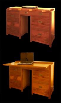 Bureau en bois sur mesure bureaux tables matahati for Anatomie du meuble
