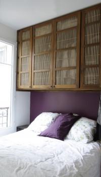 Penderie teck bambou int gr e penderies armoires for Meuble au dessus du lit