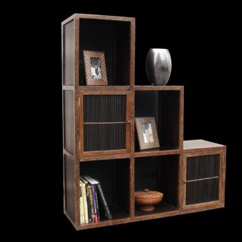 Meuble escalier teck et bambou r alis sur mesure armoires armoires et r - Meuble en forme d escalier ...